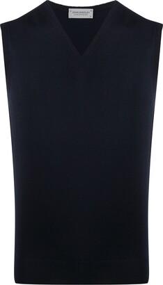 John Smedley Sleeveless Knit Pullover