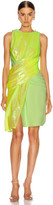 Sies Marjan Quincy Wrapped Dress in Fluo Yellow | FWRD