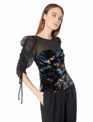 Rebecca Taylor Women's Long Sleeve Solstice Velvet Top
