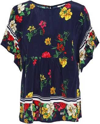 Joie Ayako Floral-print Silk Crepe De Chine Top