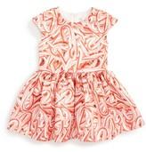 Halabaloo Infant Girl's Candy Cane Print Dress