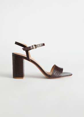 And other stories Strappy Block Heel Leather Sandals