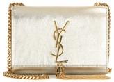 Saint Laurent Classic Small Monogram Metallic Leather Shoulder Bag