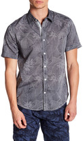 ProjekRaw Projek Raw Short Sleeve Leaf Print Woven Shirt