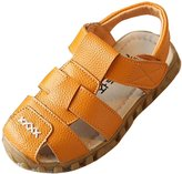 Gaorui Kid Child Boy Leather Closed Toe Sandals Beach Flat Oxford Water Shoes Loafers