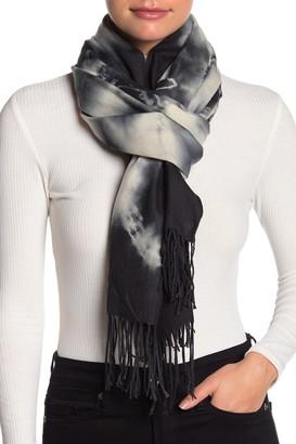 Cara Accessories Super Soft Tie-Dye Print Fringe Wrap Scarf