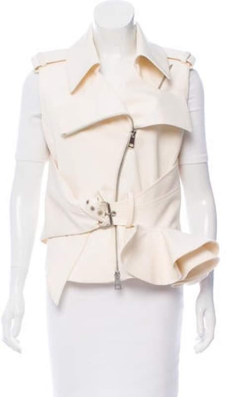 Bouchra Jarrar Wool Peplum Vest w/ Tags wool Wool Peplum Vest w/ Tags
