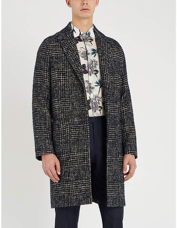Etro Floral-print tailored-fit cotton-poplin shirt