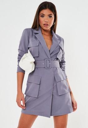 Missguided Tailored Utility Blazer Dress