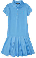 Ralph Lauren Drop-Waist Stretch Polo Dress