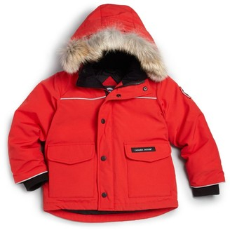 Canada Goose Little Kid's Lynx Coyote Fur-Trim Down Parka