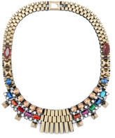 Rolex Chain Bib Stud Necklace in Multi