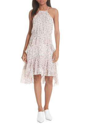Joie Lamberta Tiered Print Silk Dress