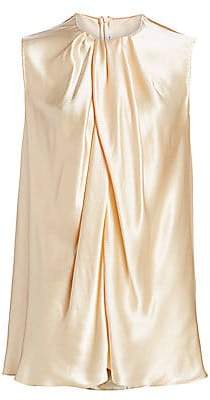 The Row Women's Shira Silk Drape Top