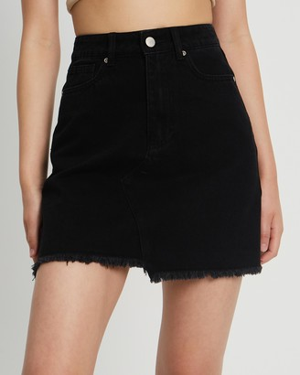 Calli - Women's Black Denim skirts - Zeze Denim Skirt - Size 6 at The Iconic