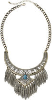 JCPenney MIXIT Mixit Antiqued Gold-Tone Leaf Fringe Bohemian Necklace