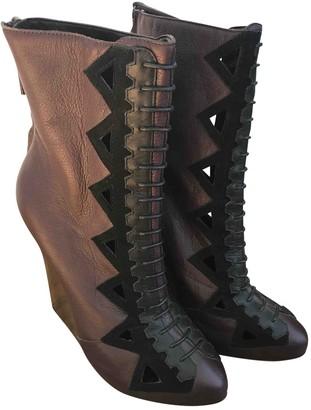 Proenza Schouler Purple Leather Boots
