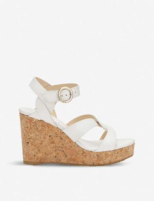 Jimmy Choo Aleili Vachetta leather wedge heels