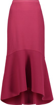 Rebecca Vallance Pleated crepe midi skirt