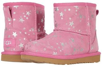 Ugg Kids Classic Mini II Stars (Toddler/Little Kid) (Wild Berry) Girls Shoes