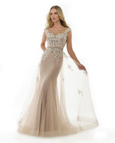 Morrell Maxie 15436 Bedazzled Illusion Bateau Gown