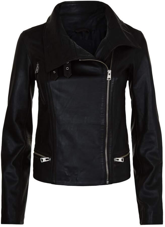 AllSaints Bales Funnel Neck Biker Jacket
