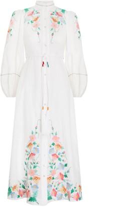 Zimmermann Fiesta Applique Long Dress