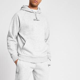 River Island Prolific grey marl regular fit hoodie