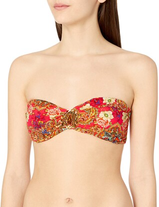 OndadeMar Women's Camellia Bandeau Bikini Top XS