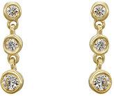 Tate Women's Round White Diamond Strand Earrings