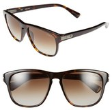 Lanvin Men's 55Mm Retro Sunglasses - Dark Havana/ Brown
