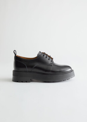 And other stories Chunky Leather Oxfords