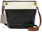 Fossil Keely Colorblocked Cross-Body Bucket Bag