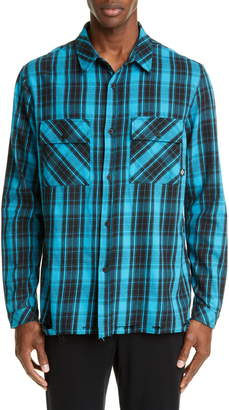 Marcelo Burlon County of Milan County Check Plaid Button-Up Flannel Shirt