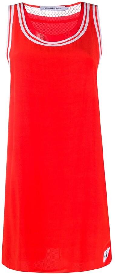 Calvin Klein Jeans Contrast Border Tank Dress