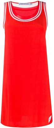 Calvin Klein Jeans Contrast Border Tank Dress