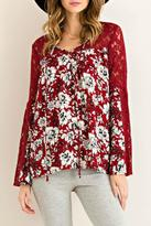 Entro Bell Sleeve Lace Top
