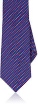 Barneys New York Men's Geometric Silk Tie-NAVY