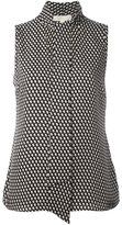 MICHAEL Michael Kors dots print sleeveless blouse - women - Silk - 6