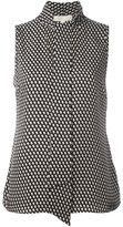 MICHAEL Michael Kors dots print sleeveless blouse