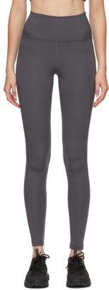 Girlfriend Collective Grey High-Rise Compressive Leggings