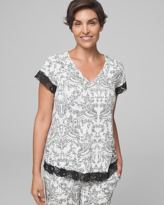 Soma Intimates Lace Flutter Sleeve Pajama Top