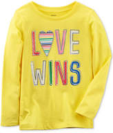 Carter's Love Wins Long-Sleeve Cotton T-Shirt, Little Girls and Big Girls