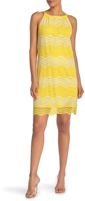 trina Trina Turk Retreat Halter Lace Sheath Dress