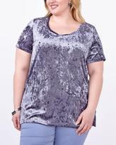 Penningtons Relaxed Fit Velvet T-Shirt