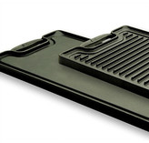 """Emerilware by All Clad Cast Iron 20"""" x 10.5"""" Reversible Grill Pan and Griddle"""