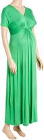 Glam Green V-Neck Maternity Maxi Dress