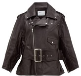 Toga Belted Leather Biker Jacket - Womens - Black