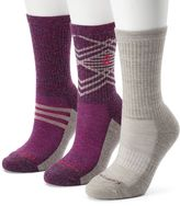 Free Country Women's 3-pk. Geometric Striped Wool-Blend Hiking Socks