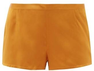 La Perla Silk-satin Pyjama Shorts - Womens - Dark Yellow